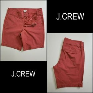 J Crew Women Bermuda Pockets Walking Short Red 4